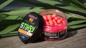 Dumbells Wafters fluo BLOODWORM & HEMP 7x10mm 60ml (ochotka-konopie)
