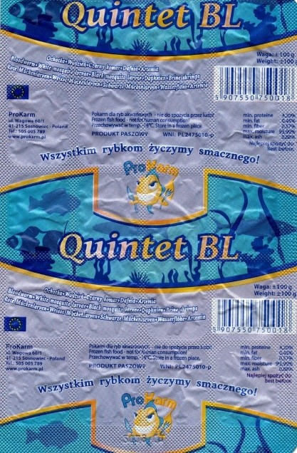 Quintet BL mrożony - tabliczka 100 g